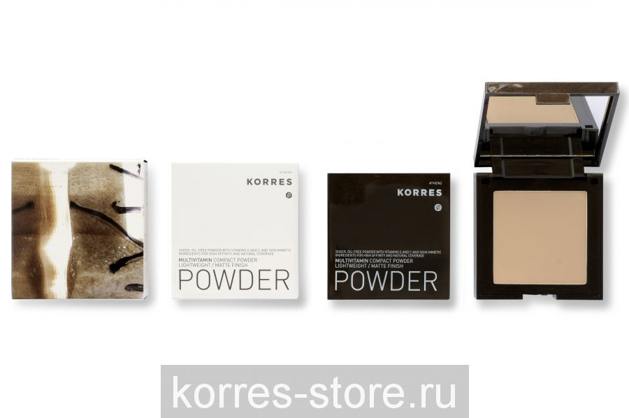 Korres Компактная пудра с мультивитаминами Легкая / матирующая