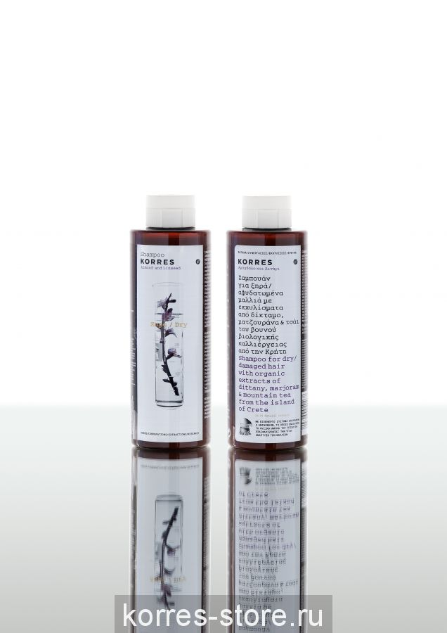 Korres Миндаль и семена льна Шампунь для сухих и поврежденных волос