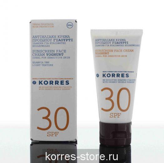 Солнцезащитный крем для лица с йогуртом для чувствительной кожи SPF 30